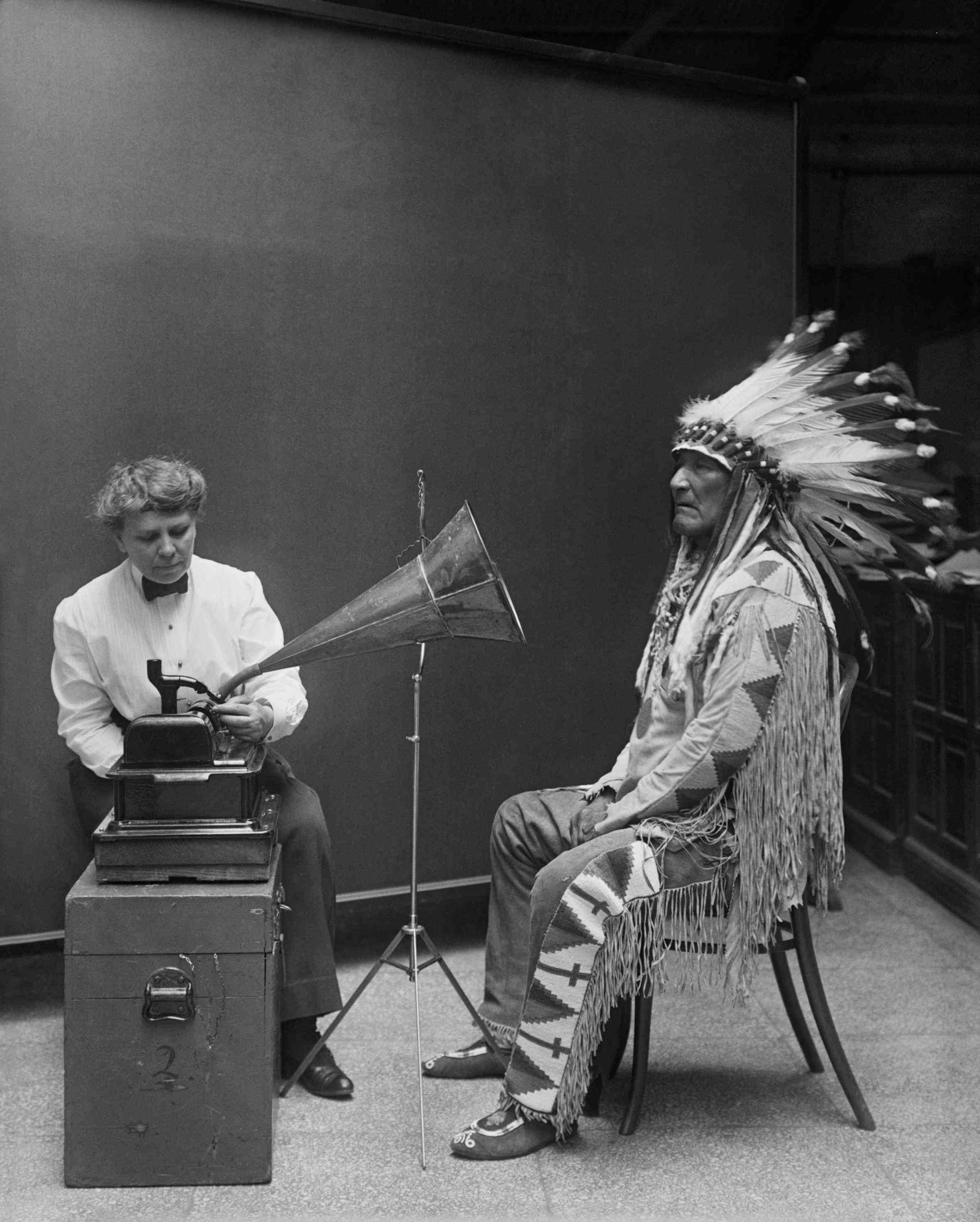Chief-and-phonograph