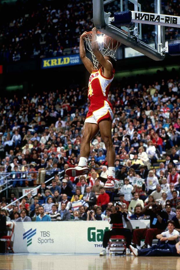 Spud Webb reverse dunk Slam dunk contest 1986