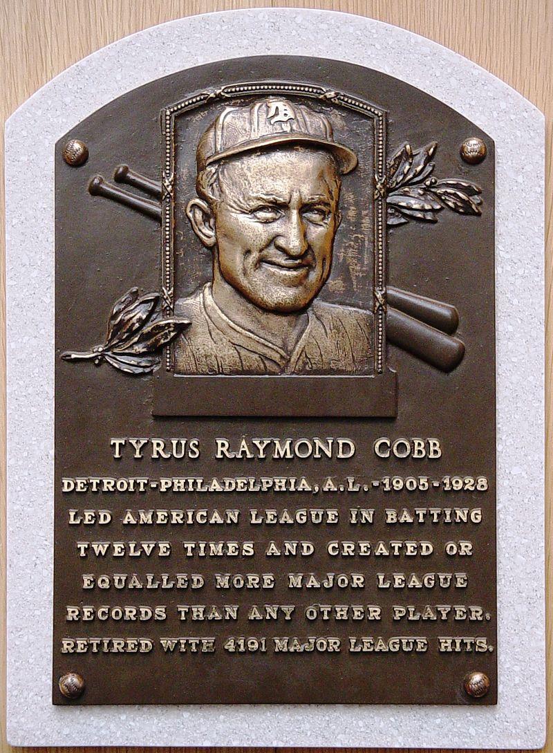 800px-Ty_Cobb_HOF_plaque