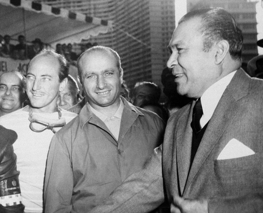 PHOTO: ESPN Fangio (center) Batista (right) the day before the kidnapping.