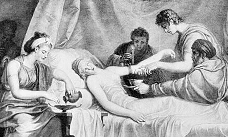 Bloodletting-scene