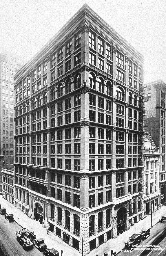 Considered to be the First Skyscraper, The Chicago Home Insurance Building PHOTO: WIki
