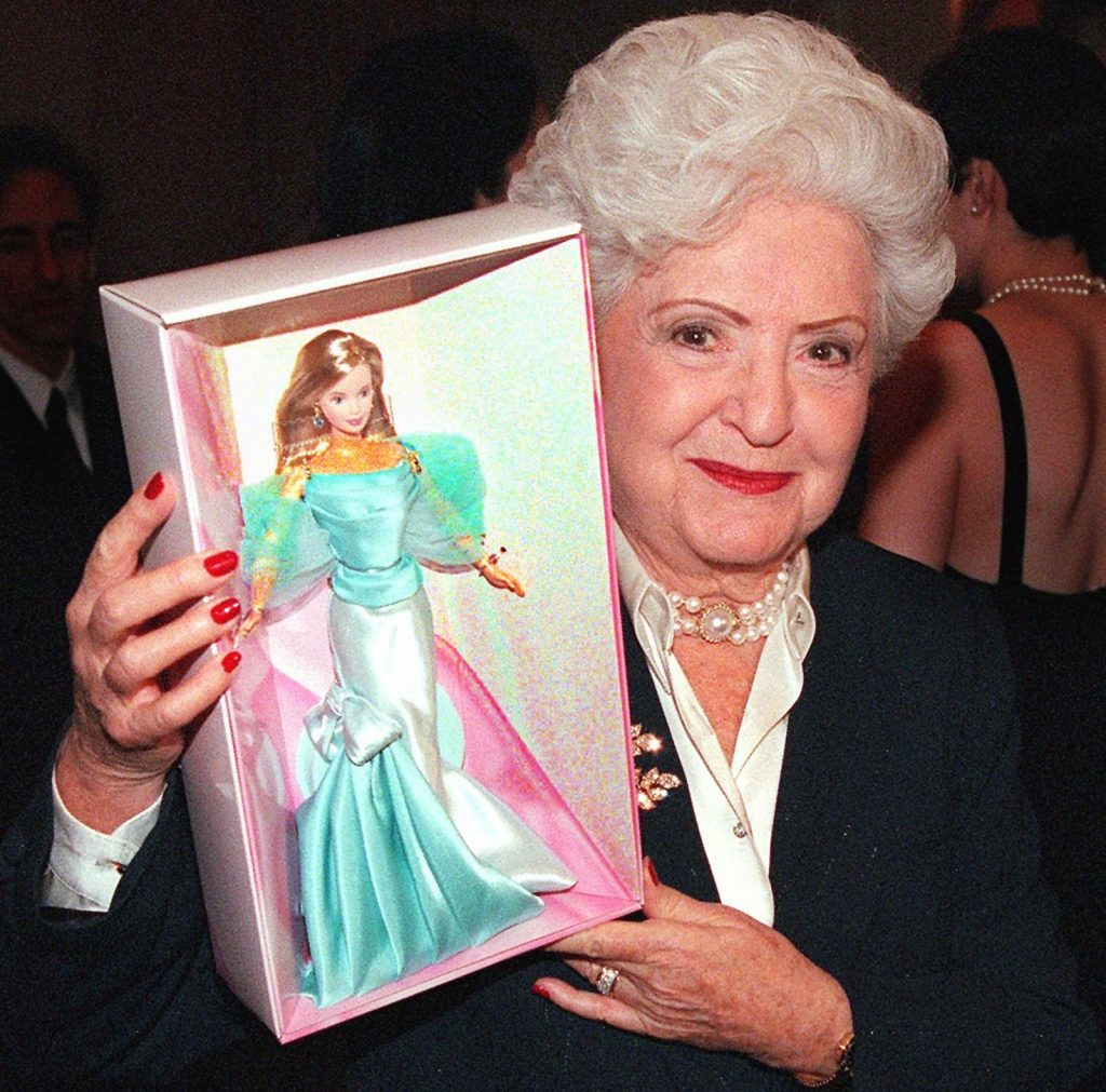 Ruth Handler with 40th Anniversary Barbie in 1999 PHOTO: DenverPost