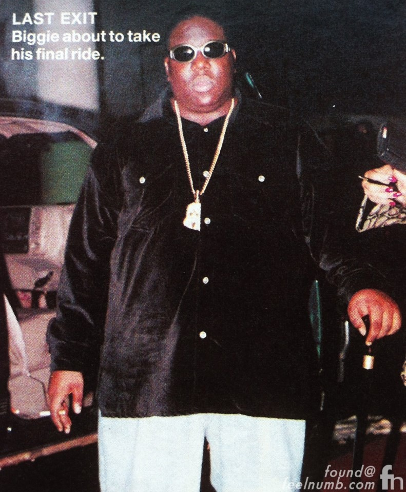 Last Known Picture of Biggie. He was shot moments later. PHOTO: Feelnumb