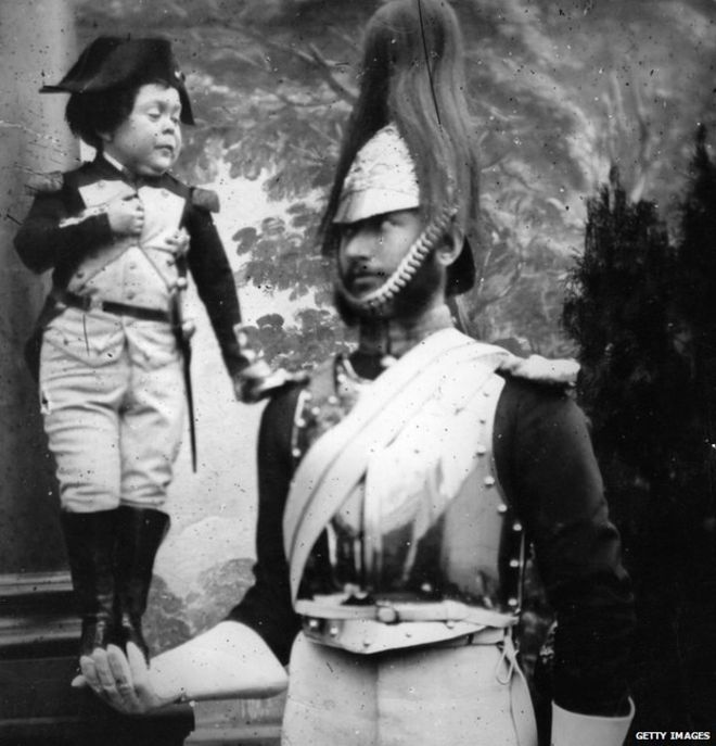 Tom Thumb dressed as Napoleon PHOTO: BBC