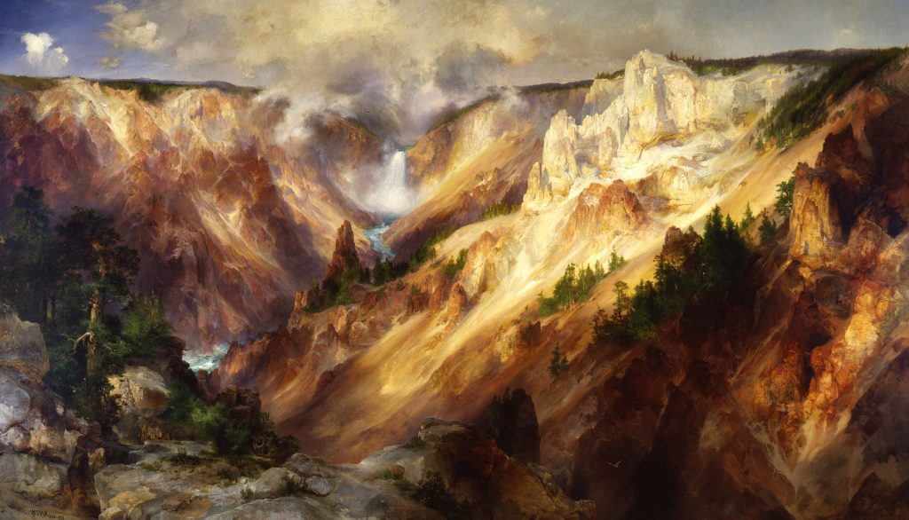 Moran's painting of the Grand Canyon of Yellowstone PHOTO: Wiki