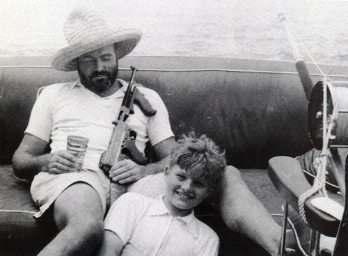 Hemingway-fishing-with-a-gun