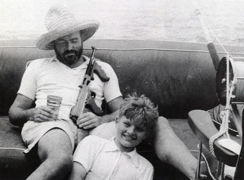 Hemingway-fishing-with-a-gun