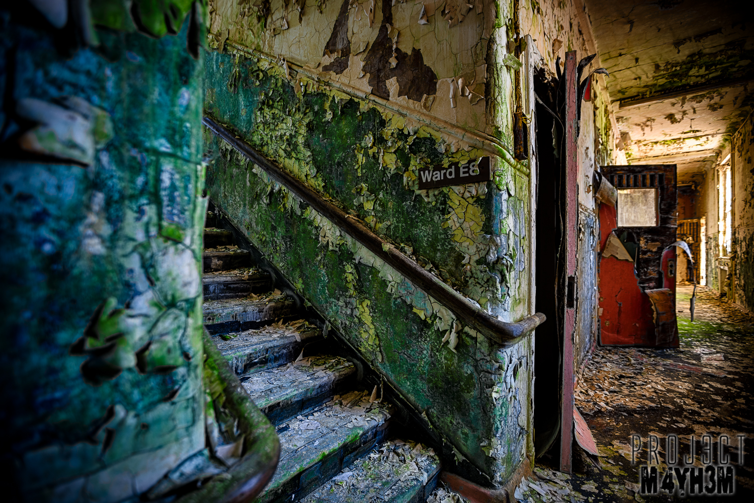 Built in 1903 the Mid Wales Hospital,Talgarth was originally a Lunatic Asylum but later functioned as a Hospital specialising in the treatment of the mentally ill. Abandoned since 1999 the hospital buildings have fallen into disrepair...