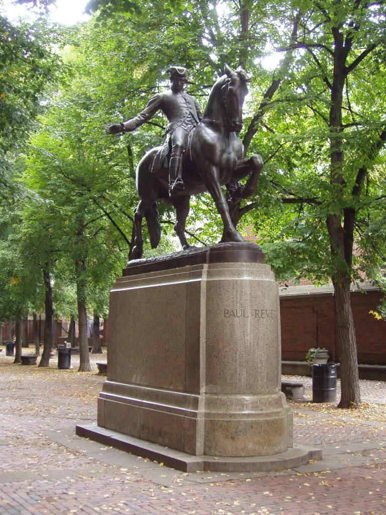 Statue of Paul Revere in North Boston PHOTO: WIKI