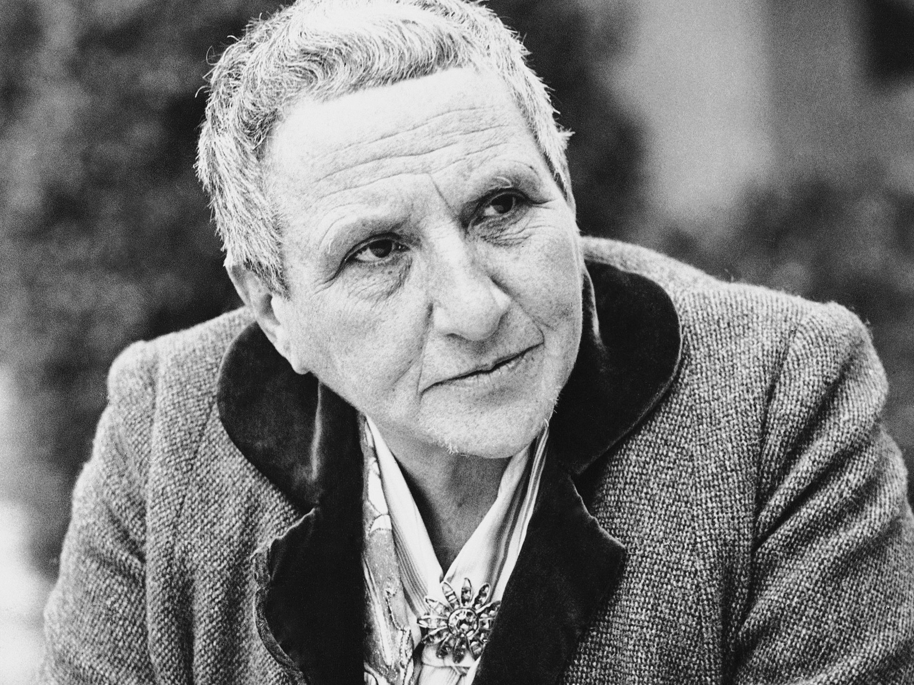 Gertrude Stein, pictured here in 1935, wrote another children's book titled To Do: A Book of Alphabets and Birthdays.