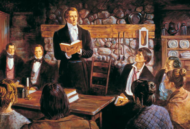 Joseph Smith reading from the Book of Mormon PHOTO: MyLifeInZion