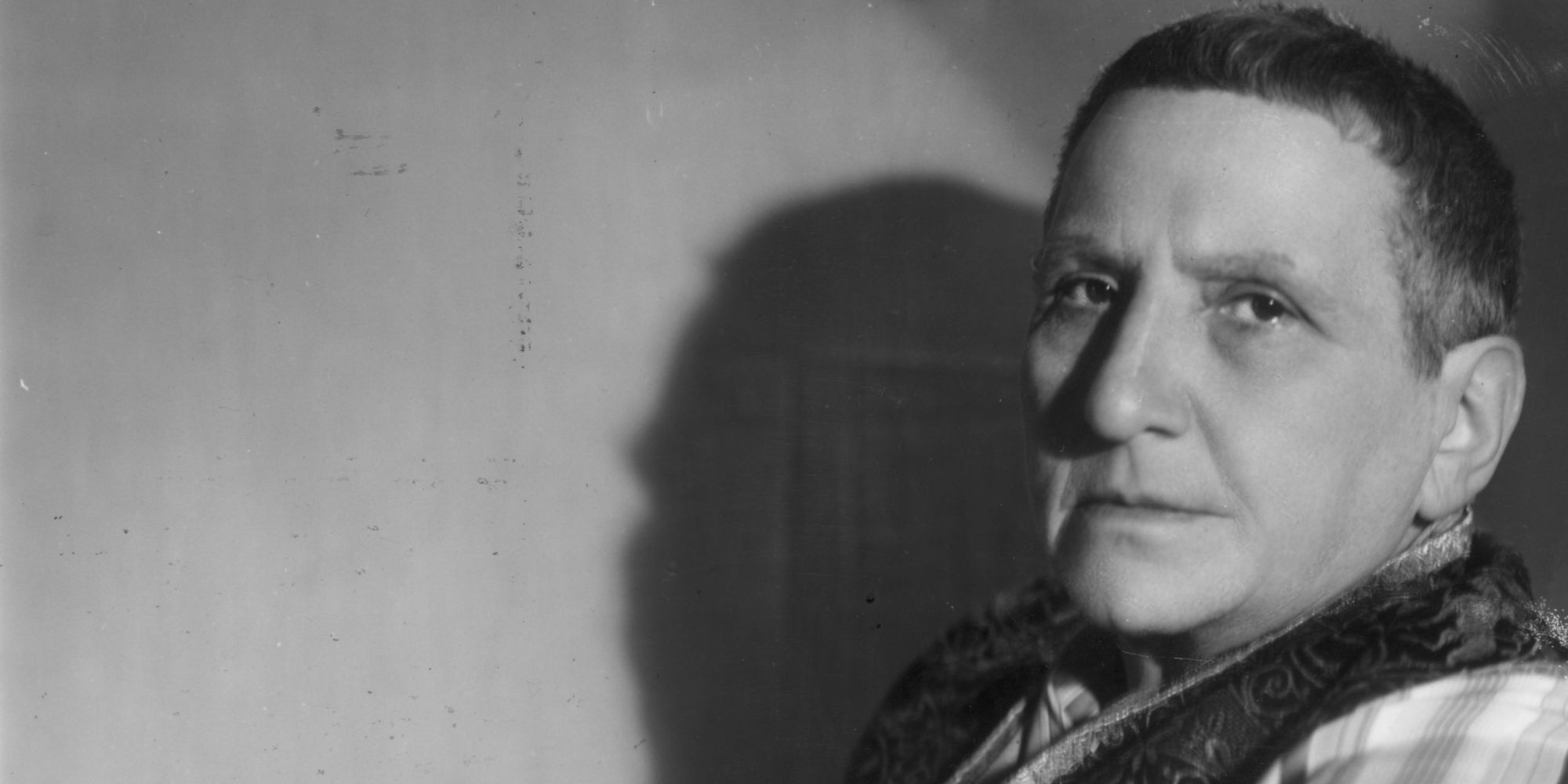 1937:  American writer Gertrude Stein (1874 - 1946).  (Photo by Gordon Anthony/Getty Images)