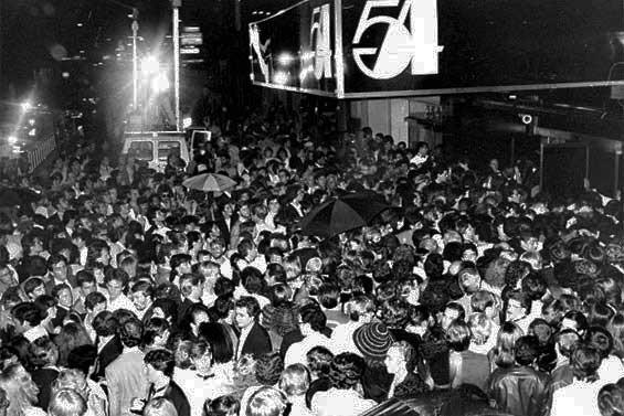Opening night at Studio 54 Photo: onthesetofnewyork