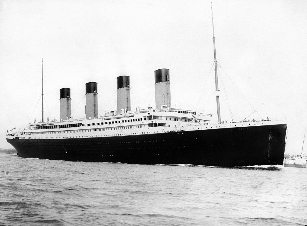 The RMS Titanic in 1912 . PHOTO:royalhistsoc