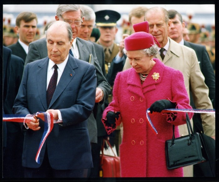 The Queen of England and President of France at opening ceremony. Photo pastreunited