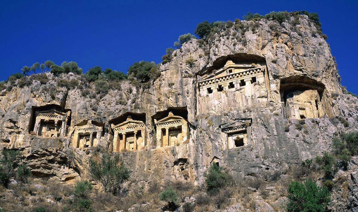 rock-tombs-dalyan