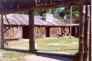 Reconstruction of Fort Mandan [PHOTO: wikimedia]