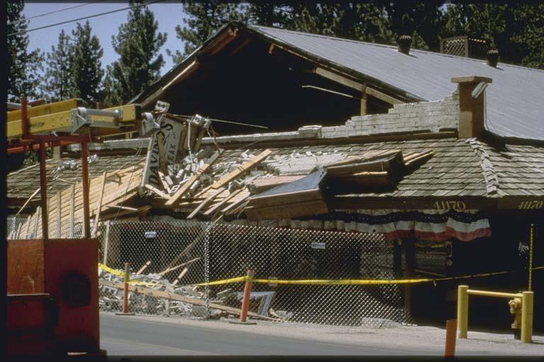 Damage in Big Bear Photo: ngdc