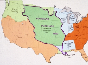 the louisiana purchase and the war The louisiana purchase encompassed 530,000,000 acres of territory in north america that the united states  and war between france and england still threatened .