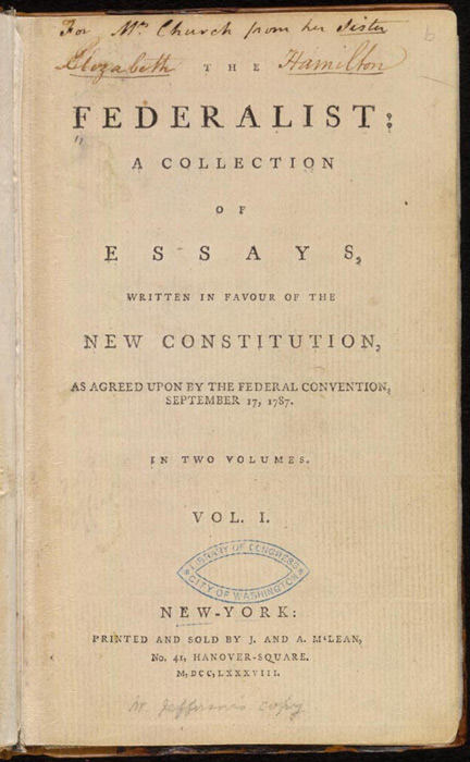 the many brilliant works of alexander hamilton the federalist papers