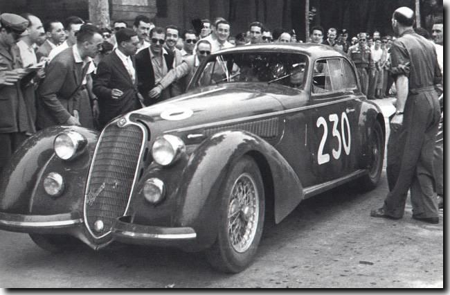 Clemente Biondetti's winning Alfa Romeo Photo: grandprixhistory