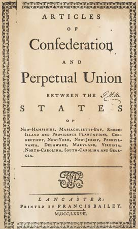 a historical background of the american constitution between 1781 and 1788 The development of the american constitution - the articles of confederation were approved by all the early american states in 1781, but by 1787, it was apparent that the articles were insufficient for the young nation to operate on.