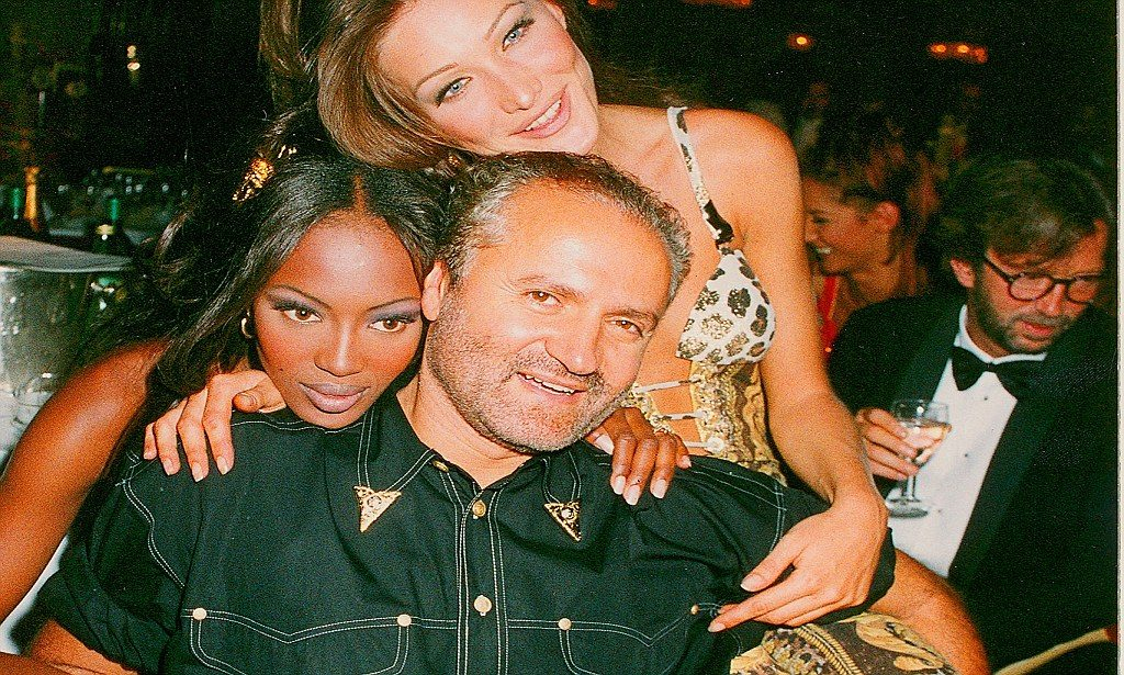 Gianni Versace with Model Naomi Campbell and Carla Bruni Photo: dailymail