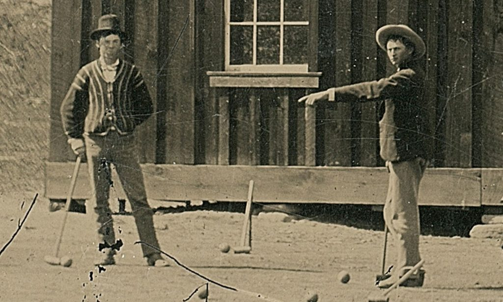 Billy the Kid Playing Croquet Photo: wiki