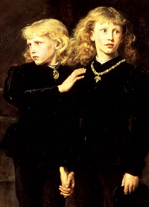RHC7212 The Princes Edward and Richard in the Tower, 1878 (oil on canvas) by Sir John Everett Millais (1829-96) Royal Holloway, University of London/Bridgeman Art Library