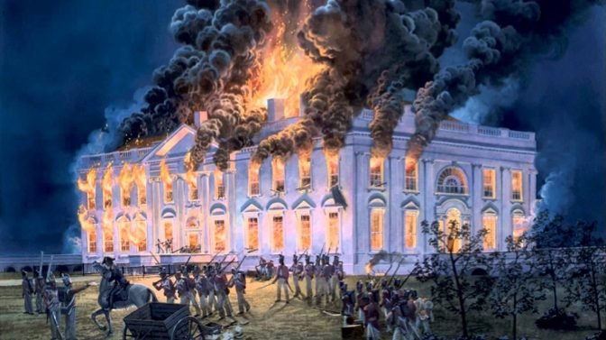 Image result for british troops burn washington in the war of 1812