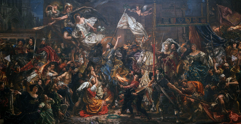 """Entrance of Joan of Arc into Reims"" by Jan Matejko [PHOTO: wikimedia]"