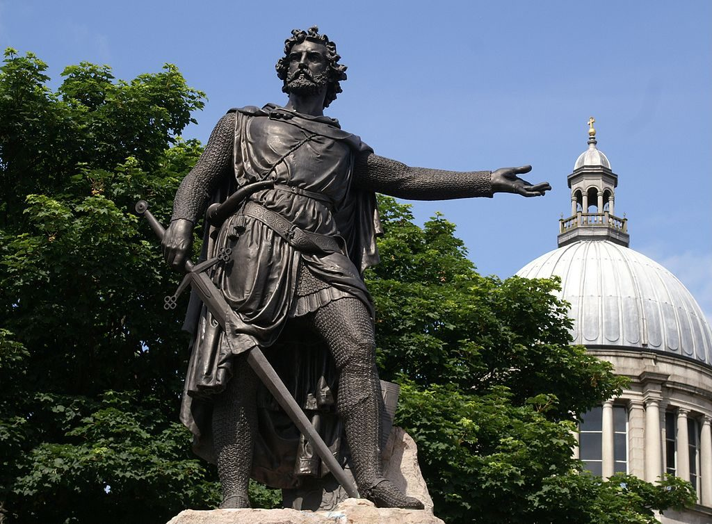 Statue to William Wallace in Aberdeen [PHOTO: wikimedia]