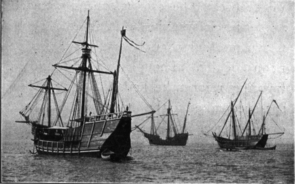 Replicas of the three ships, 1893 Photo: wiki