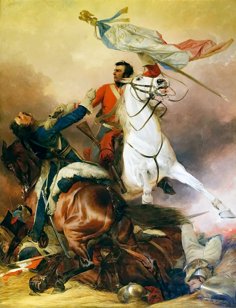 Sergent Ewart of the Scots Greys capturing the French Eagle.
