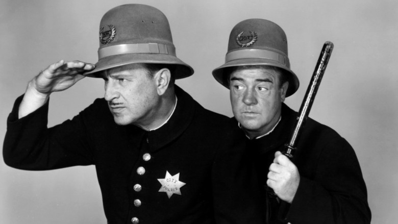 Abbott Costello as Keystone Kops bg