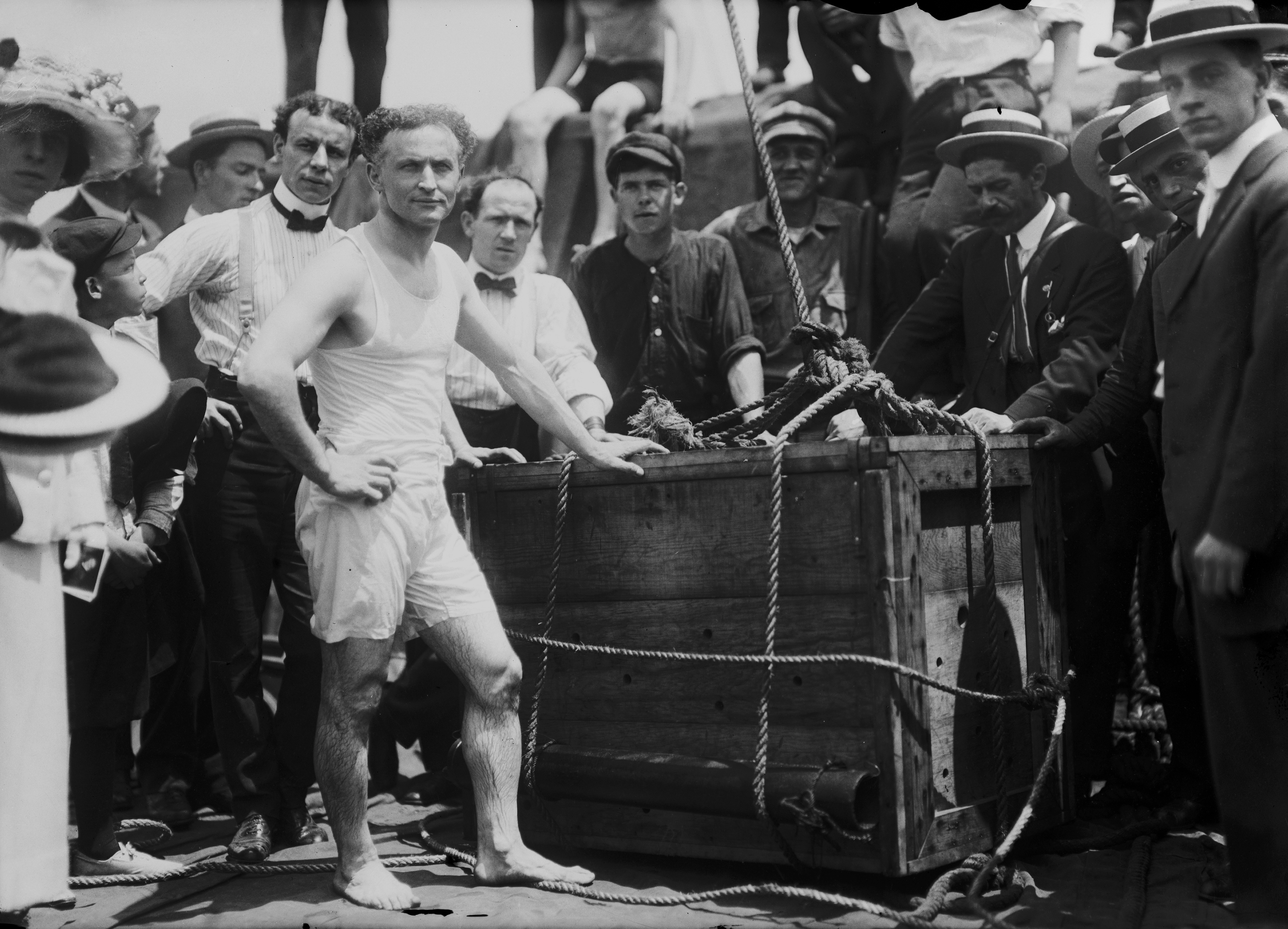 the dangerous acts of harry houdini A stuntman is a man or a woman who performs dangerous acts usually within the television  of the most famous from the last century being escape artist harry houdini.
