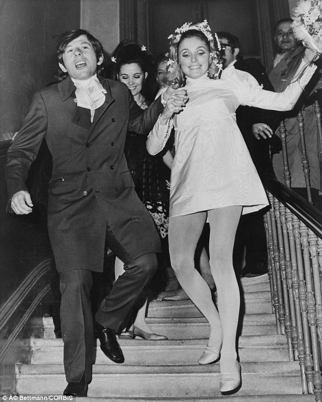 Roman Polanski and Sharon Tate's wedding day January 20, 1968 Photo: dailymail