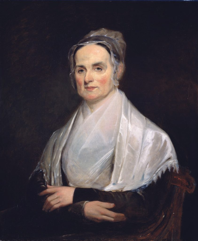 Lucretia Coffin Mott (1793 - 1880)  *oil on canvas  *76.8 x 64.1 cm  *1842