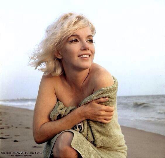 Said to be one of the last photos of Marilyn. It really shows her natural beauty Photo: pbs