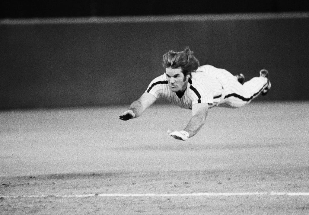 "the famous ""Pete Rose"" head fist slide Photo:  tbo"