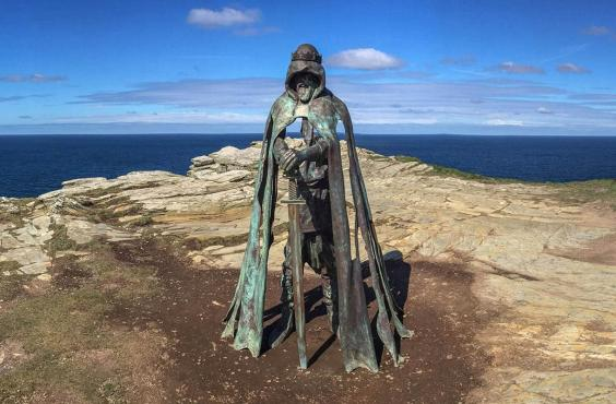King Arthur's Statue at Tintagel [PHOTO: independent.co]