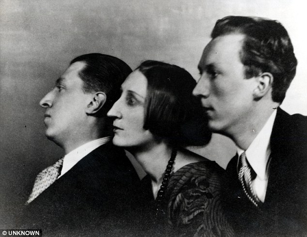 The three Sitwell Siblings (From left), Sacheverell, Edith, and Osbert. [PHOTO: dailymail.co.uk]