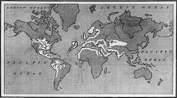 A map by Ignatius L. Donnelly showing what some believed to be the extent of the Atlantean Empire at its height. [PHOTO: wikimedia]
