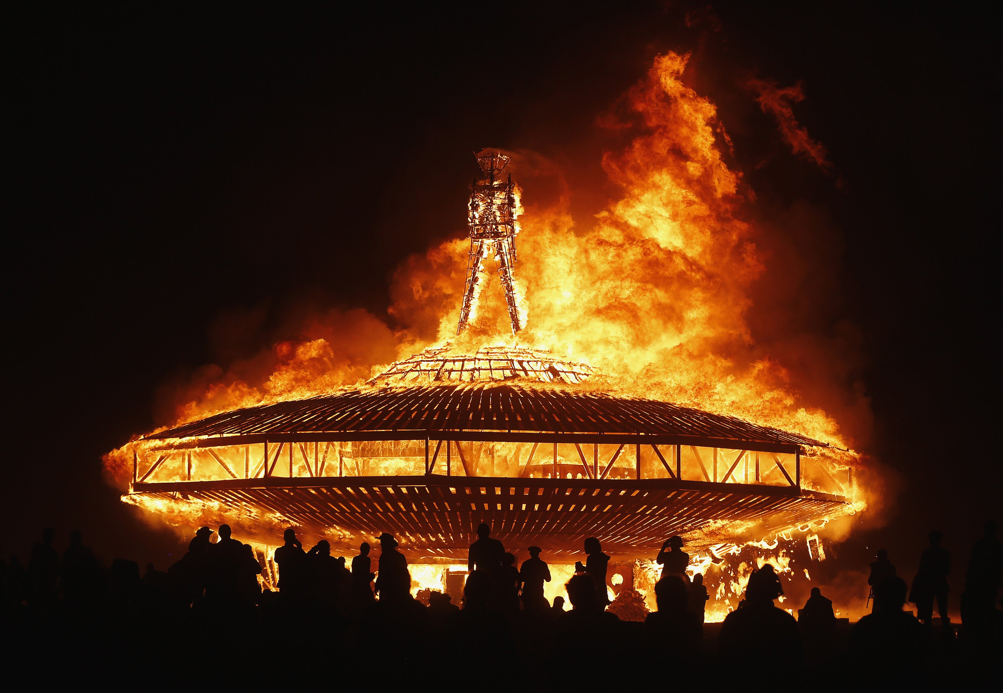 """The Man"" ritual burning at the end of the event Photo: businessinsider"
