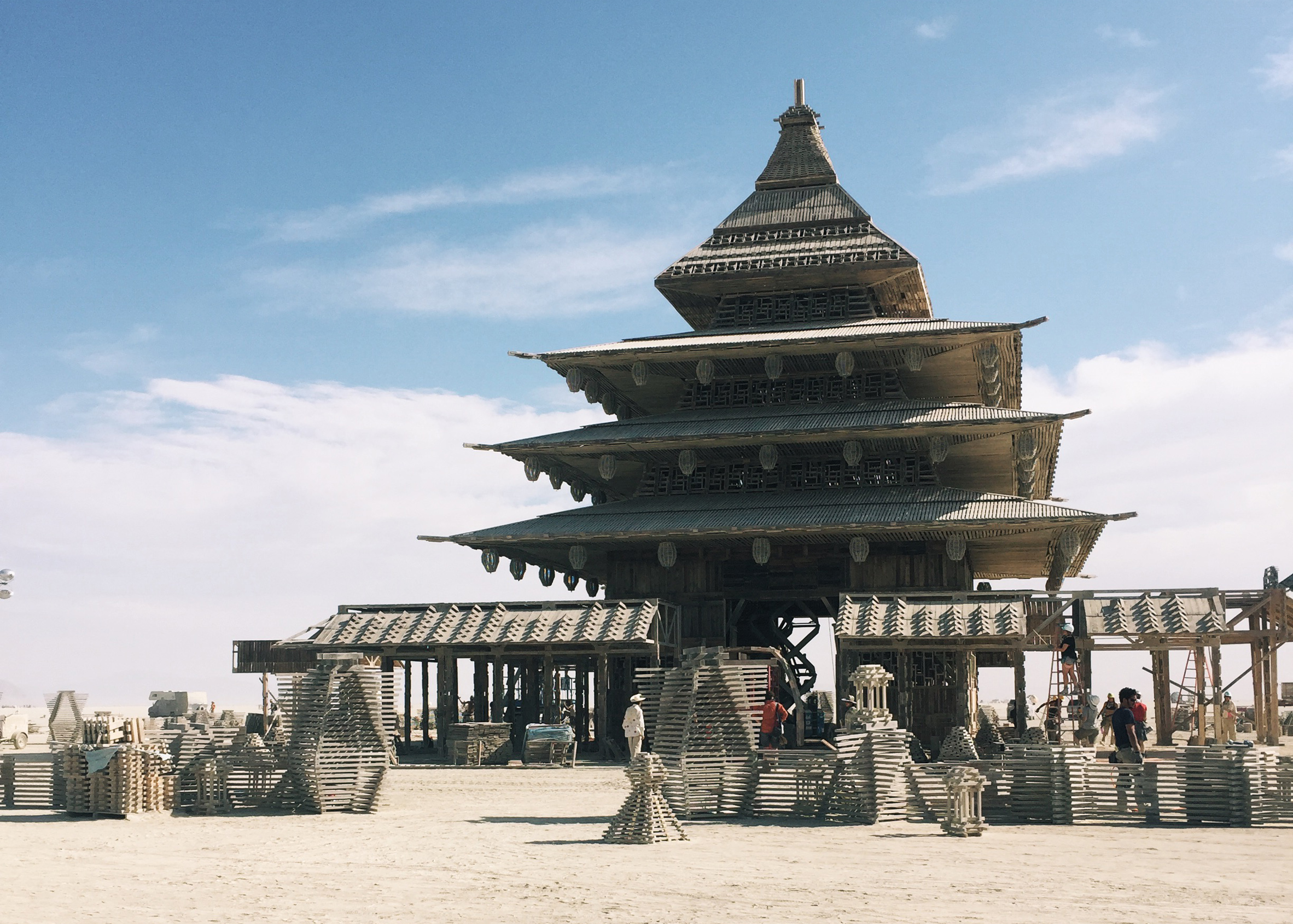 The Temple from the 2016 Burning Man Photo: dezeen