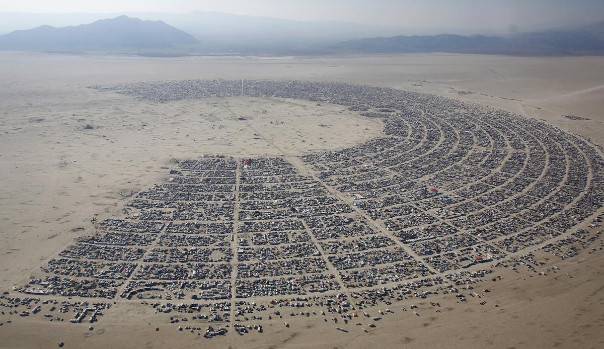 Drones eye view of burning man 2013 Photo: theatlantic