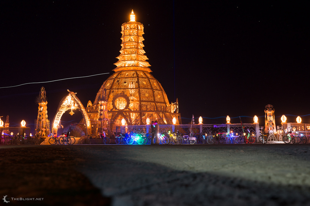 The Temple of Grace built by David Best for the 2014 Burning Man Photo: flickr