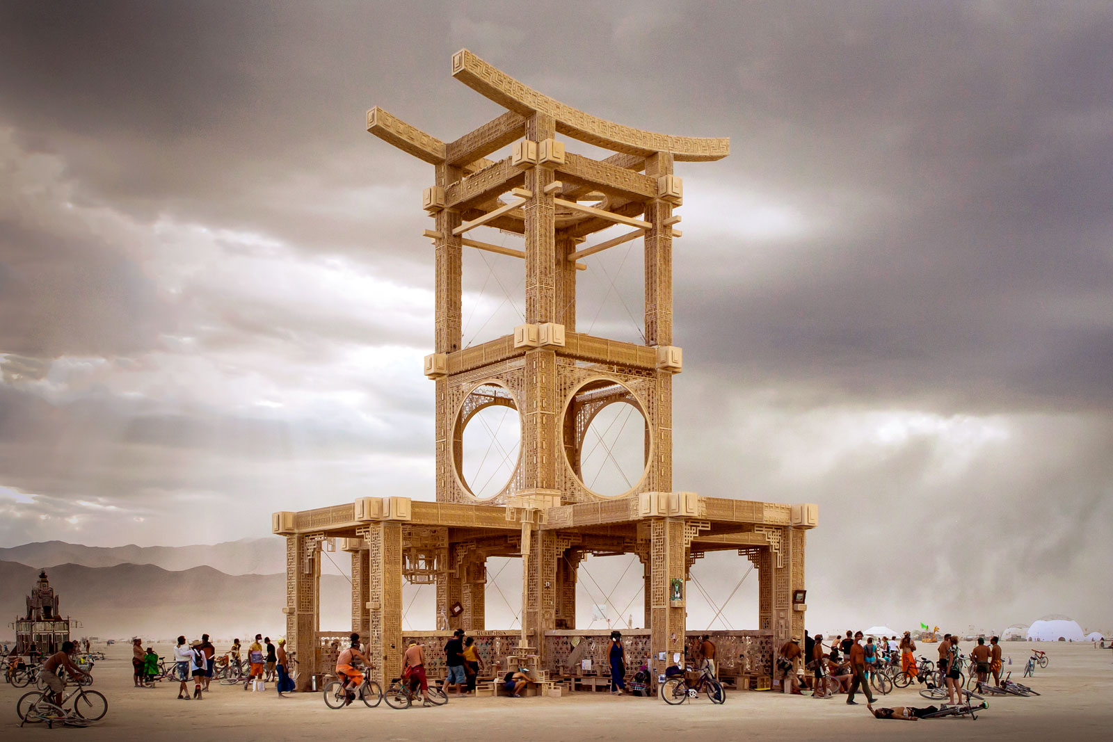 The Temple of Forgiveness at Burning Man 2007. Photo: fest300