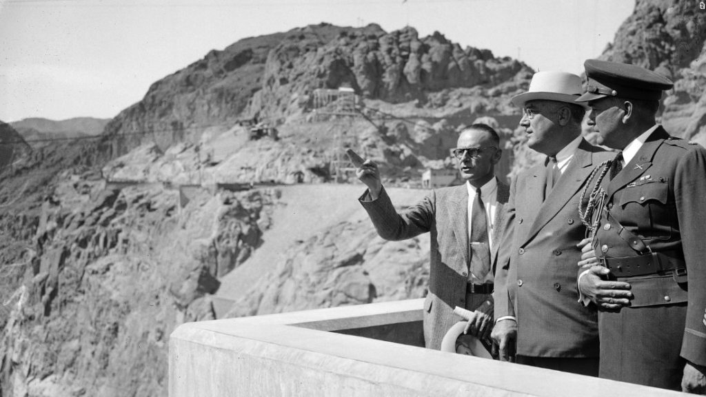 President Franklin D. Roosevelt at the dedication of the dam Photo: cnn